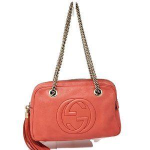 100% Auth Gucci Soho Small Calfskin Shoulder Bag